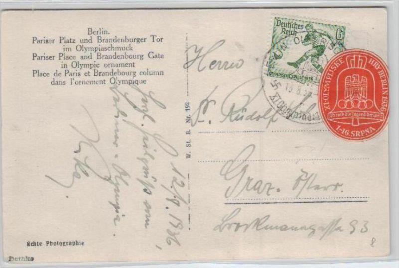 Thema Olypia 1936 Karte      (ka2487  ) siehe scan