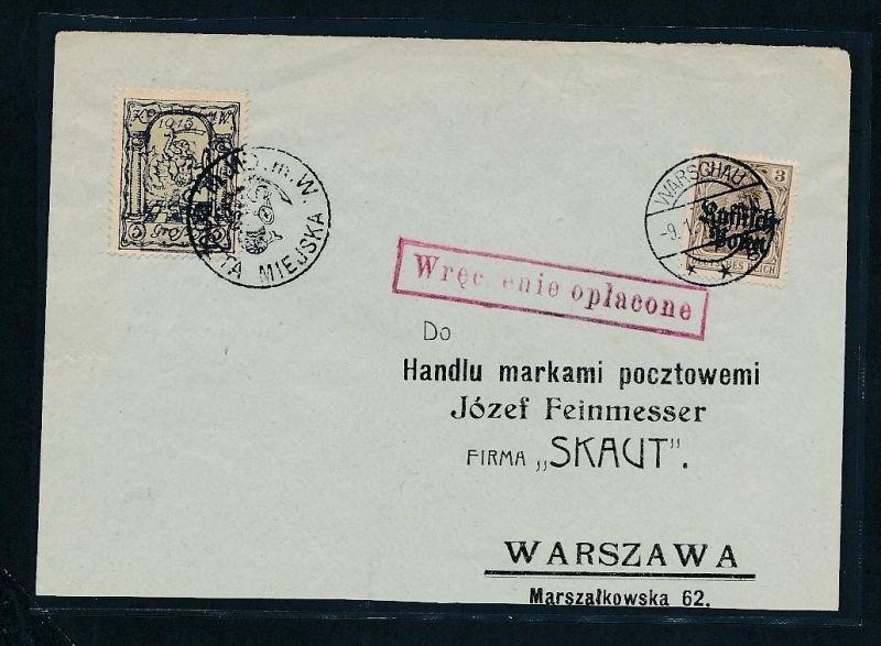 Warschau Stadtpost  - Beleg..... (oo1749  ) siehe scan