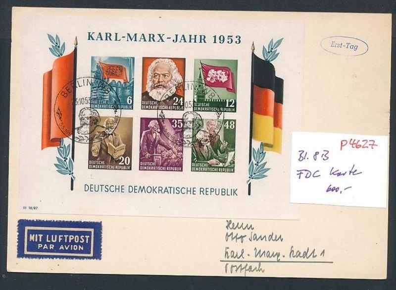 DDR FDC-Karte  Bl. 8 B  -Rare !    (p4627  ) siehe scan