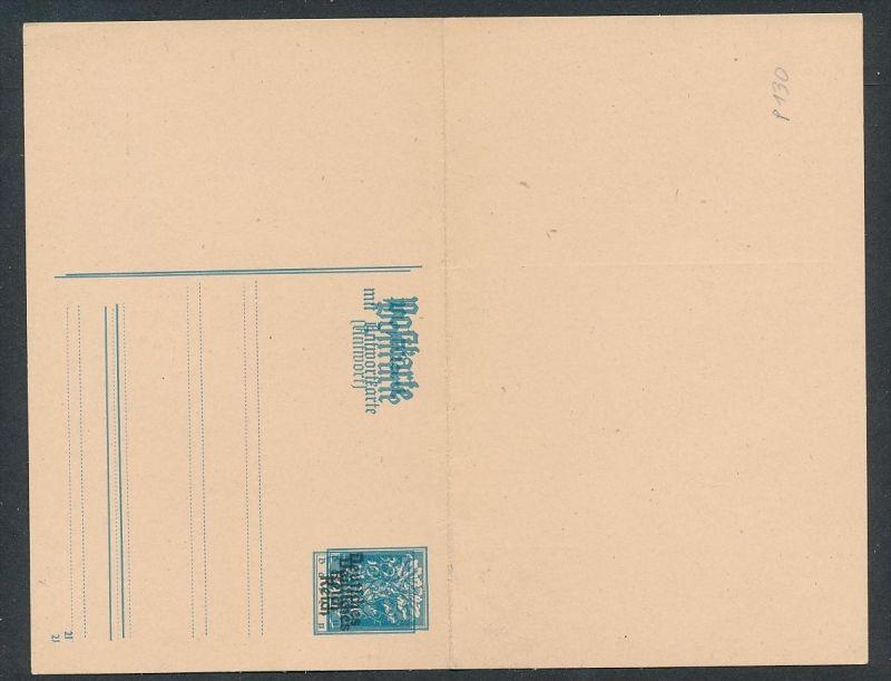 D.-Reich GS.-Doppel Aufdruck-rare   (oo2539  ) siehe scan