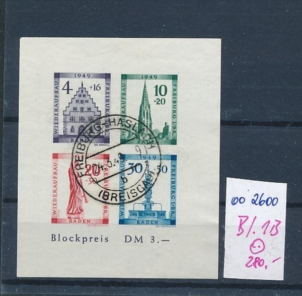 Baden Block 1 B  o (oo2600   ) siehe scan