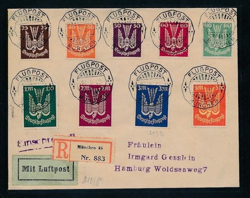 D.-Reich  netter Infla Luftpost  Beleg   (ze8434  ) siehe scan