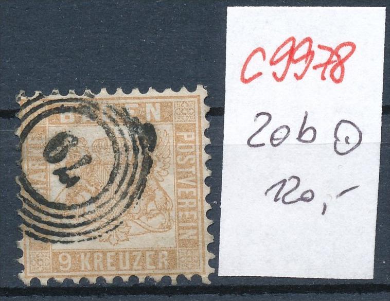 Baden Nr. 20 b  o   (c9978 )  siehe scan vergrößert