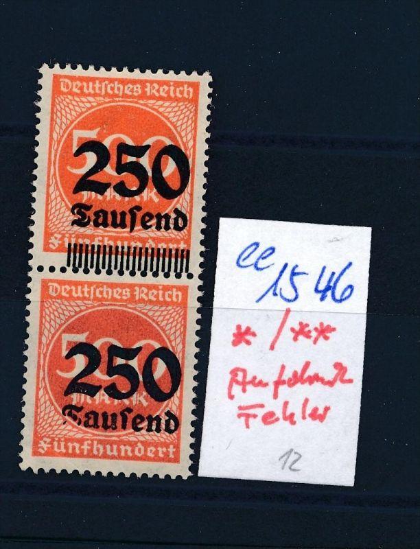 D.-Reich  Aufdruckfehler */**  (ee1546  )  .....-siehe scan vergrößert