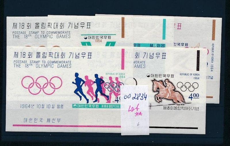 Olympia -Korea 1964 Block Lot  ** (oo2834 ) siehe scan  vergrößert