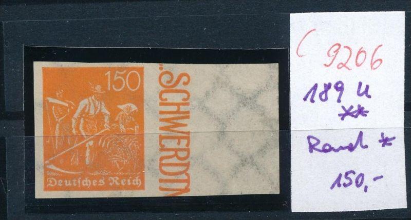 D.-Reich Nr. 189 U **  /Rand *  (c9206  ) siehe scan  vergrößert