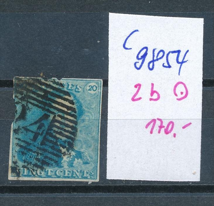 Belgien Nr. 2  b o   (c9854  ) siehe scan  vergrößert