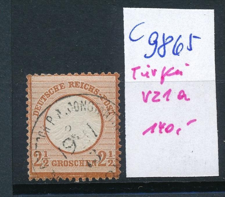 D.-Post Türkei Nr. V21a   o (c9865  ) siehe scan  vergrößert