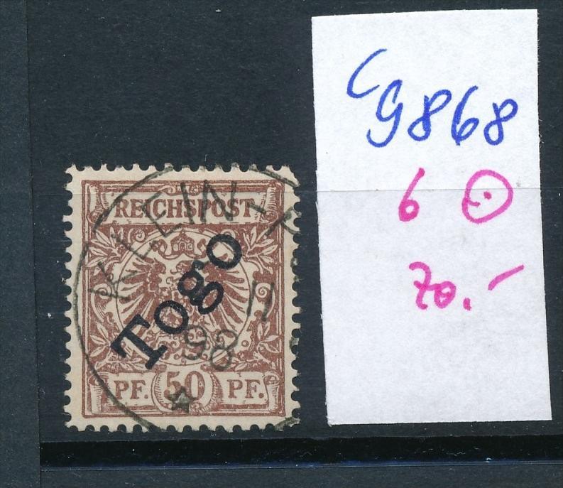 D.-Post Togo Nr.6    o (c9868  ) siehe scan  vergrößert