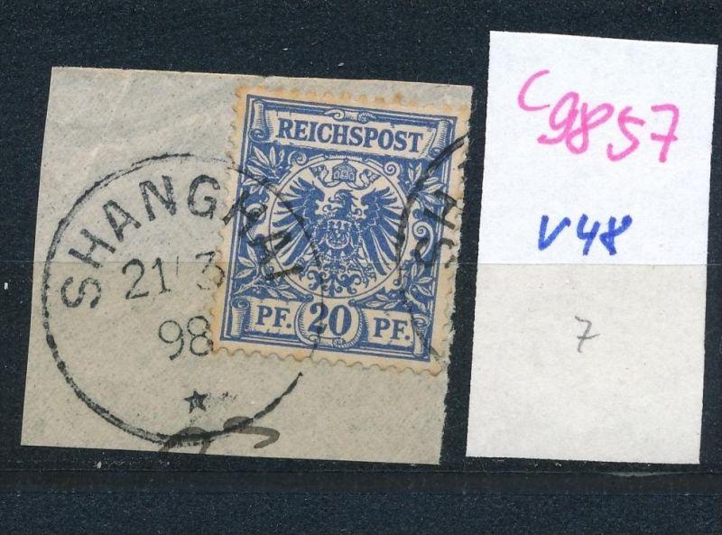 D.-Post China  Nr. V48  o (c9857  ) siehe scan  vergrößert