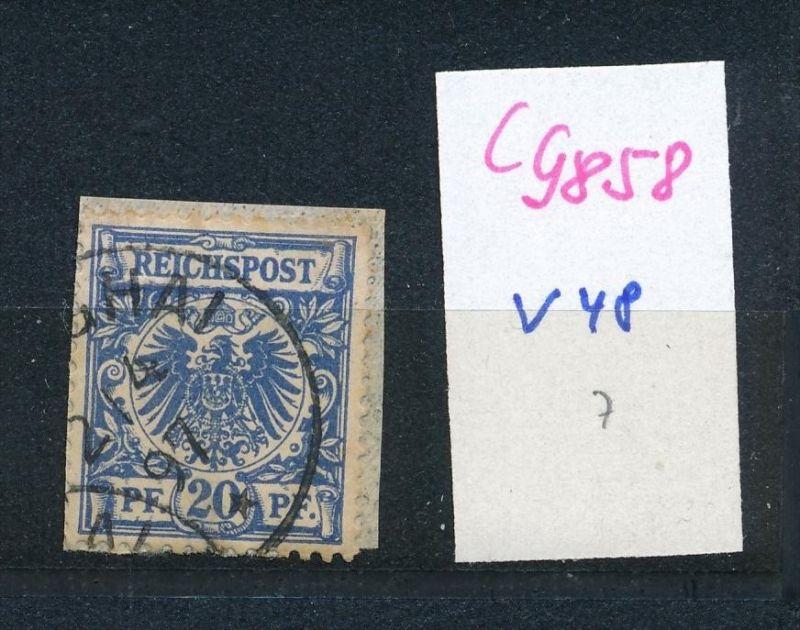 D.-Post China  Nr. V48  o (c9858  ) siehe scan  vergrößert