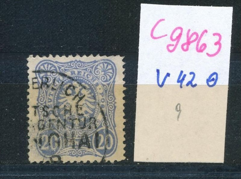 D.-Post China  Nr. V42  o (c9863  ) siehe scan  vergrößert