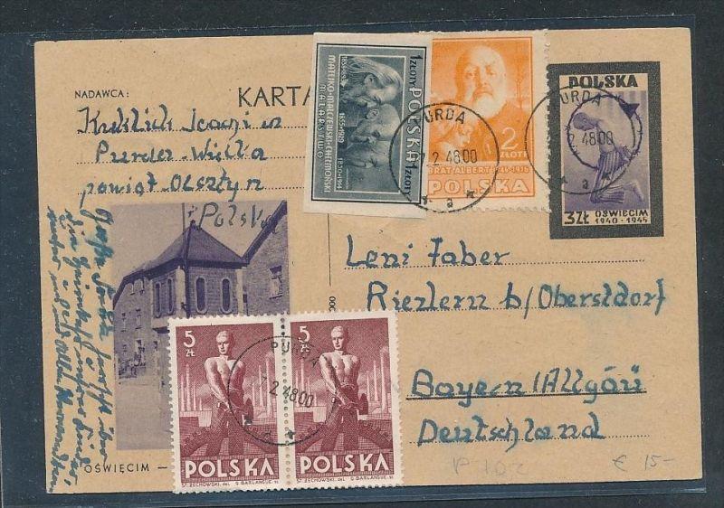 Polen  - netter Beleg.....   (oo2903  ) siehe scan