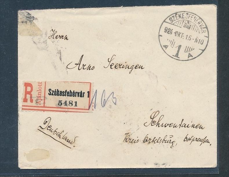 Ungarn alter Beleg...Bahnpost  (g5865  ) siehe Bild
