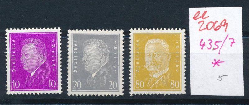 D.-Reich Nr. 435-7  *    (ee2069  ) siehe scan