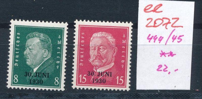 D.-Reich Nr. 444-45  **   (ee2072  ) siehe scan