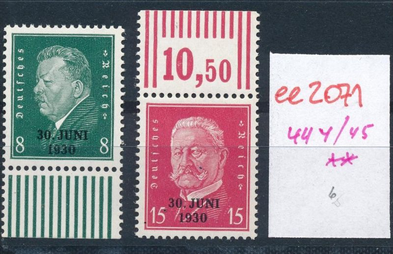 D.-Reich Nr. 444-45  **   (ee2071  ) siehe scan