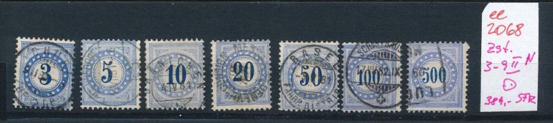 Schweiz Porto  Zst. 3-9 II N  o   (ee2068  ) siehe scan