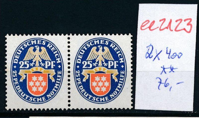 D.-Reich   Nr.2x  400 ** (ee2123  ) siehe scan
