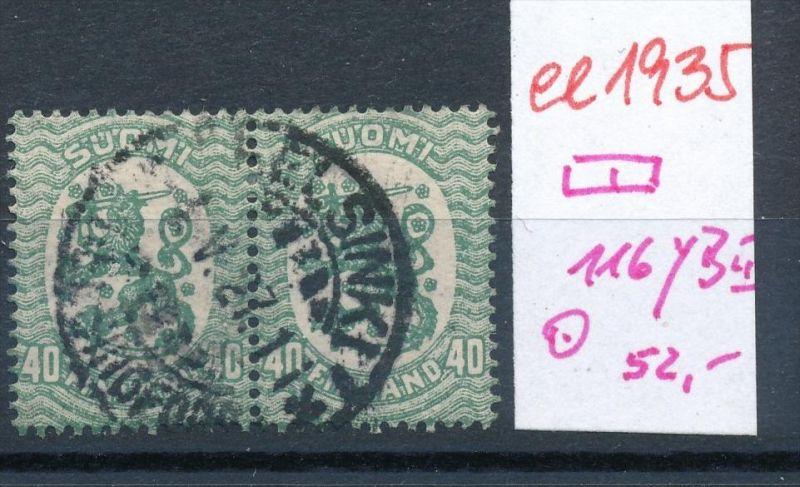 Finnland Nr. 2x 116 yB  o   (ee1935  ) siehe scan