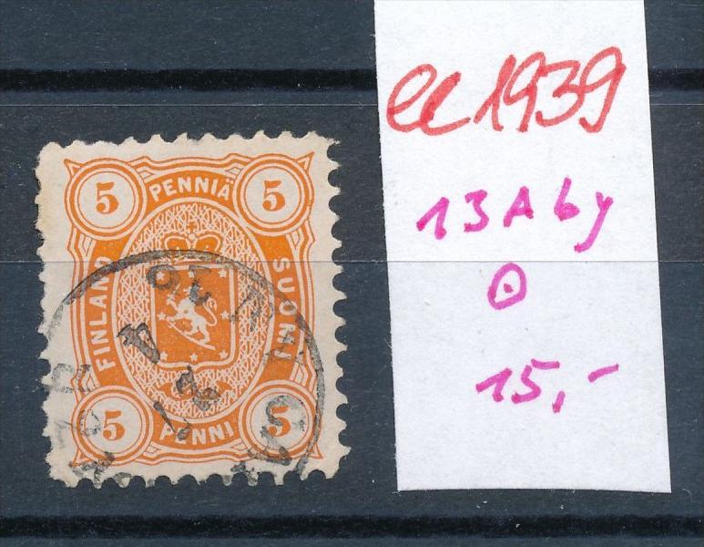 Finnland Nr. 13 yAb     o   (ee1939  ) siehe scan