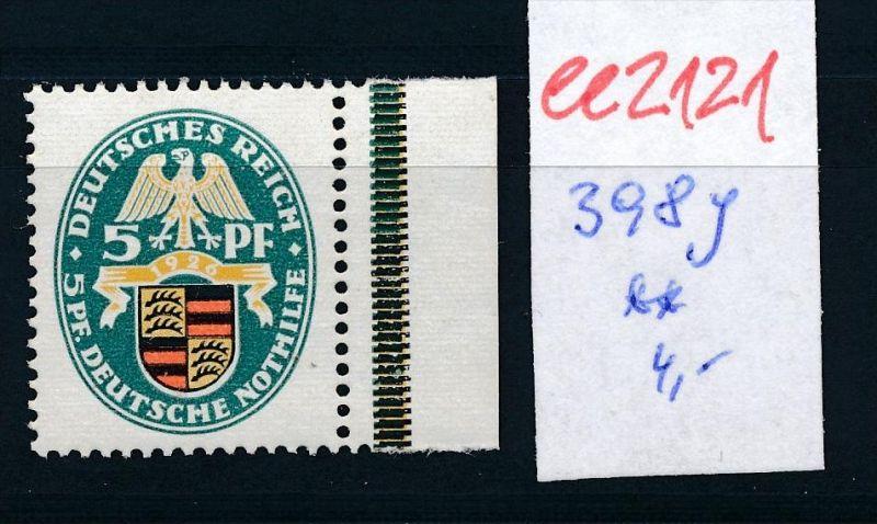 D.-Reich Nr.  398 **   (ee2121  ) siehe scan