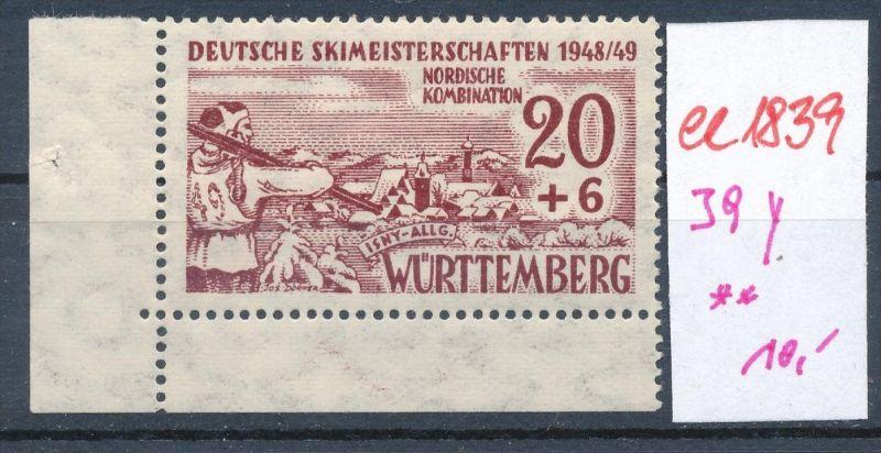 Würtemberg  39y  **    (ee1839  ) siehe scan