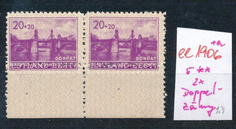 Estland- Doppel Zahnung -Abart  **   (ee1906 ) siehe scan