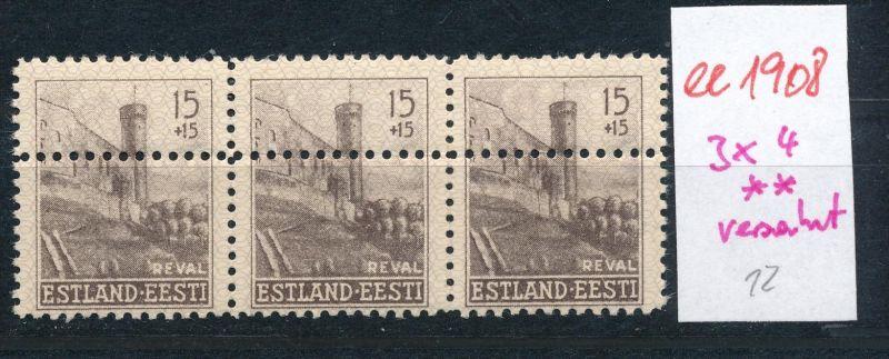 Estland- Verzahnung -Abart  **   (ee1908 ) siehe scan