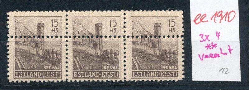 Estland- Verzahnung -Abart  **   (ee1910 ) siehe scan