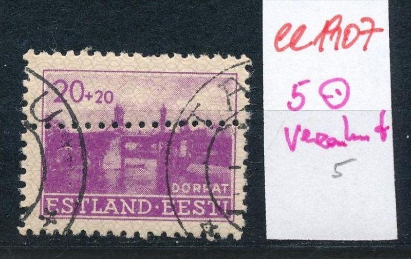 Estland- Verzahnung -Abart  o   (ee1907 ) siehe scan
