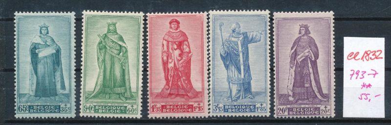 Belgien Nr. 793-7   **  (ee1832 ) siehe scan