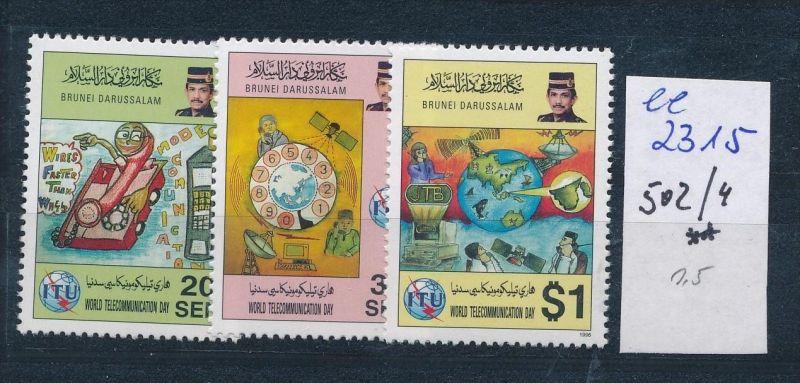 Brunei Nr. 502-4  **   ( ee2315  ) siehe scan