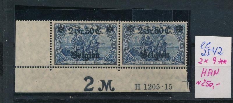 D.-Post Belgien  Nr. 2x 9 + HAN     **  (ee2542 ) siehe scan
