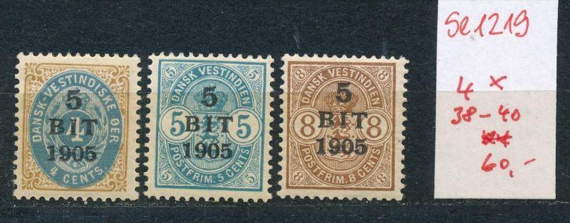 Dänemark -Westindien  Nr. 38-40 **   (se1219   ) siehe scan