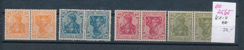D.-Reich Nr. k1-4    **  ( ee2565 ) siehe scan !