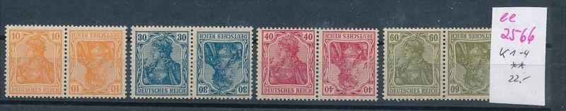D.-Reich Nr. k1-4    **  ( ee2566 ) siehe scan !