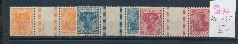 D.-Reich Nr. kz 1,3,5   **  ( ee2572 ) siehe scan !
