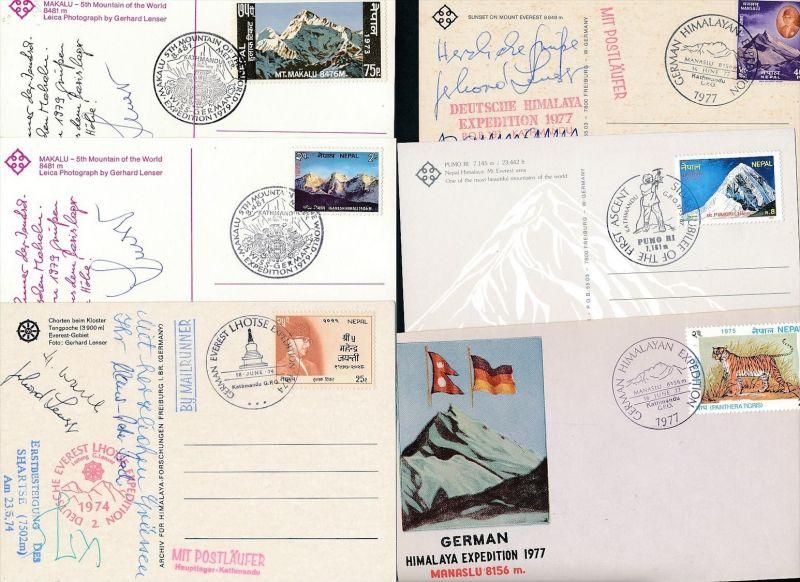 Nepal kleine Sammlung Karten/Belege ( oo3942 ) siehe scan !