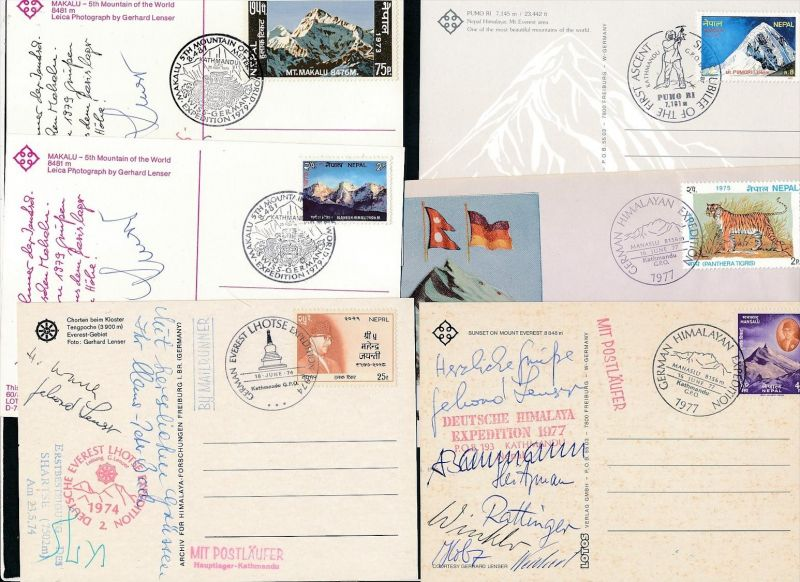 Nepal kleine Sammlung Karten/Belege ( oo3941 ) siehe scan !