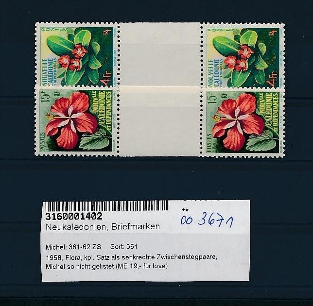 Neukaledonien 361-2 Steeg Paare  **.( oo3671 ) siehe scan !