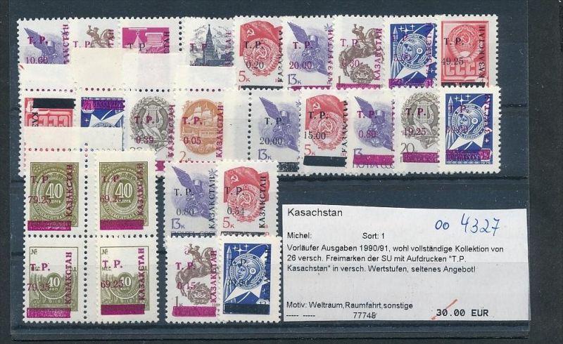 Kasachstan  Lot aus 1990/91   **     (oo4327  ) siehe scan !