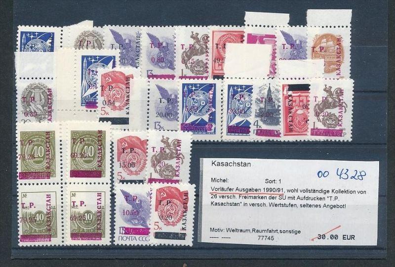 Kasachstan  Lot aus 1990/91   **     (oo4328  ) siehe scan !