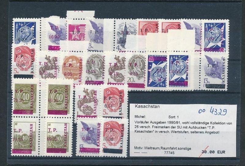 Kasachstan  Lot aus 1990/91   **     (oo4329  ) siehe scan !
