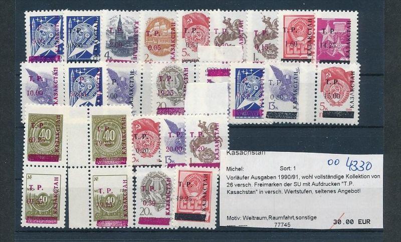 Kasachstan  Lot aus 1990/91   **     (oo4330  ) siehe scan !