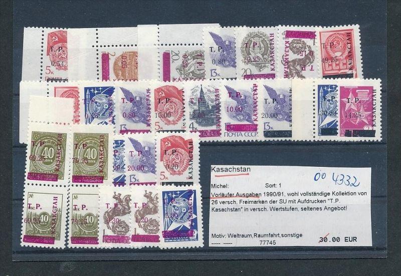 Kasachstan  Lot aus 1990/91   **     (oo4332  ) siehe scan !