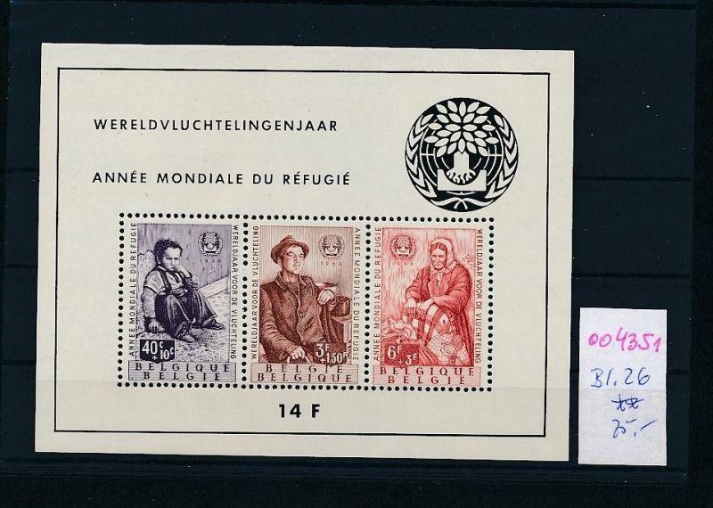 Belgien Bl. 26     **  (oo4351  ) siehe scan !