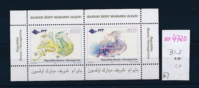 Bosnien Bl.2  **  (oo4720 ) siehe scan !