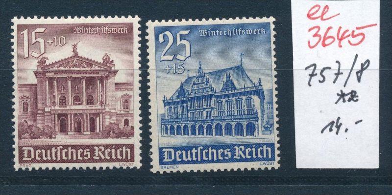 D.-Reich  Nr. 757-8  **   (ee3645  ) siehe scan !