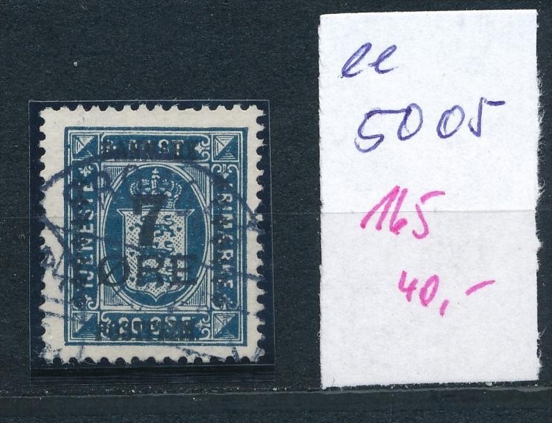 DK  Nr. 165     o  ( ee5005  ) aus einer Spezial Sammlung !